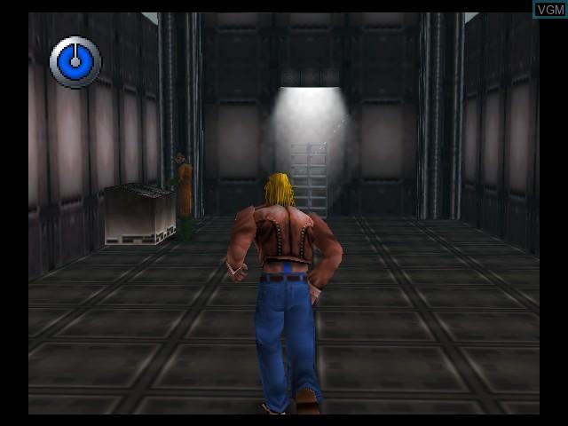 Menu screen of the game Hybrid Heaven on Nintendo 64