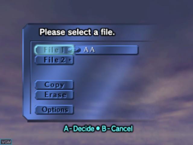 Menu screen of the game Legend of Zelda, The - Majora's Mask on Nintendo 64