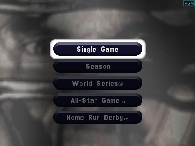 Menu screen of the game Mike Piazza's Strike Zone on Nintendo 64