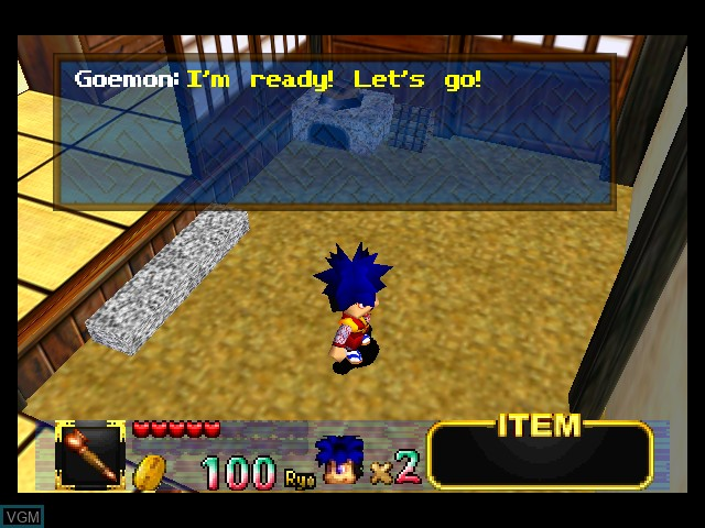 Menu screen of the game Mystical Ninja Starring Goemon on Nintendo 64
