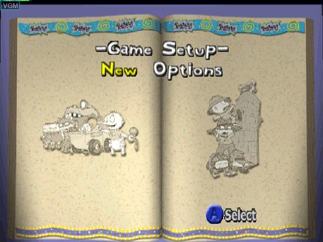 Menu screen of the game Rugrats - Scavenger Hunt on Nintendo 64