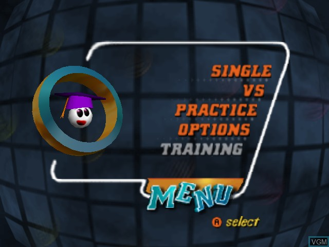 Menu screen of the game Tetrisphere on Nintendo 64