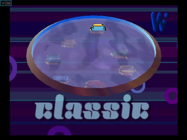 Menu screen of the game Wetrix on Nintendo 64