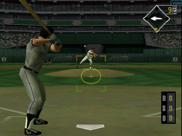 In-game screen of the game All-Star Baseball '99 on Nintendo 64