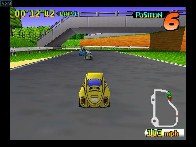 In-game screen of the game Choro Q 64 on Nintendo 64