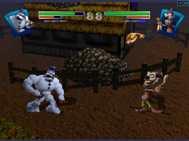 In-game screen of the game Clay Fighter - Sculptor's Cut on Nintendo 64