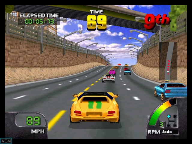In-game screen of the game Cruis'n World on Nintendo 64