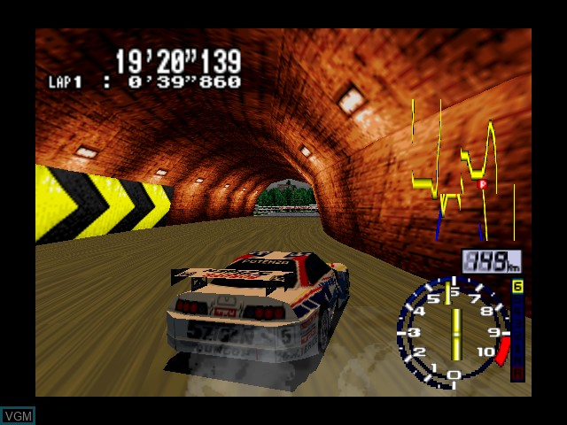 In-game screen of the game GT 64 - Championship Edition on Nintendo 64