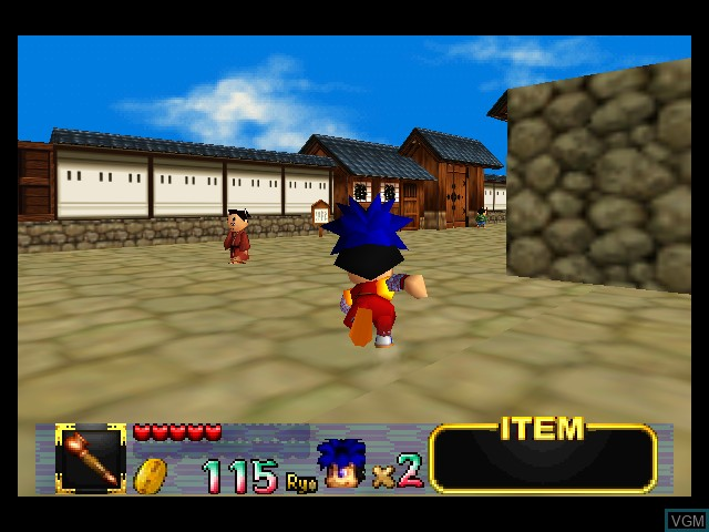 In-game screen of the game Mystical Ninja Starring Goemon on Nintendo 64