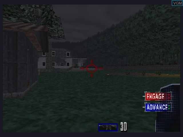 In-game screen of the game Tom Clancy's Rainbow Six on Nintendo 64
