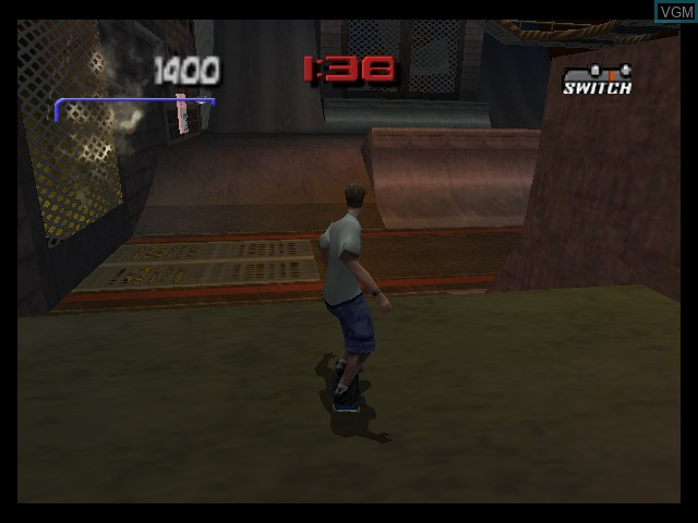In-game screen of the game Tony Hawk's Pro Skater 3 on Nintendo 64