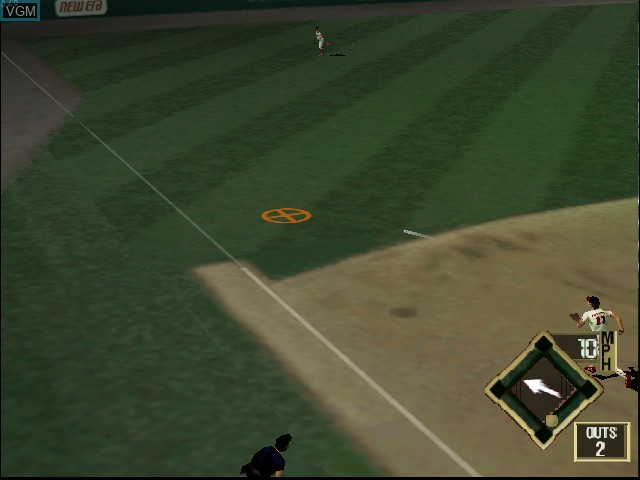 In-game screen of the game All-Star Baseball 2000 on Nintendo 64