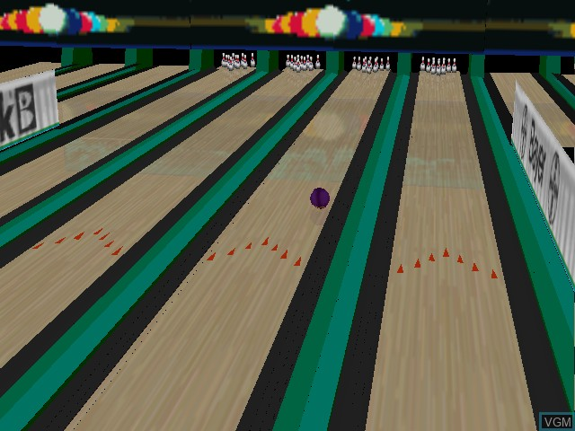 In-game screen of the game Brunswick Circuit Pro Bowling on Nintendo 64