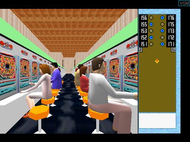 In-game screen of the game Heiwa Pachinko World 64 on Nintendo 64