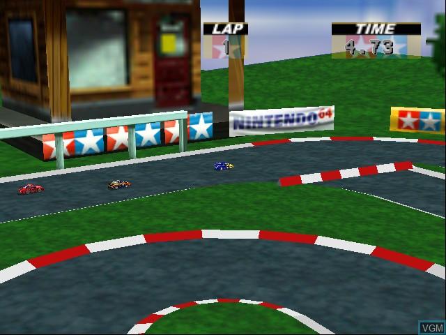 In-game screen of the game Tamiya Racing 64 on Nintendo 64