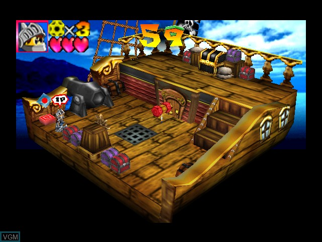 In-game screen of the game Toon Panic on Nintendo 64