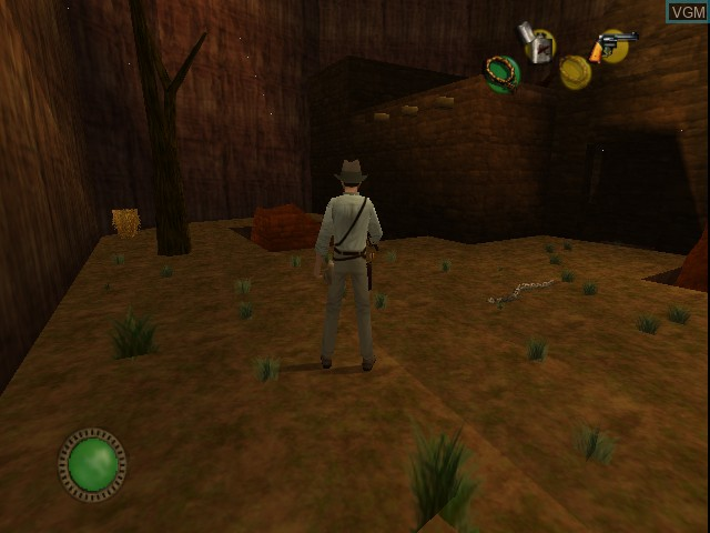 In-game screen of the game Indiana Jones and the Infernal Machine on Nintendo 64