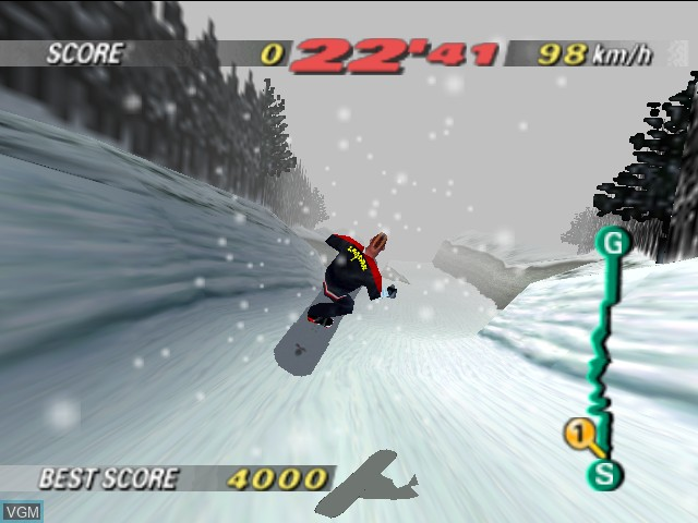 In-game screen of the game 1080 Snowboarding on Nintendo 64