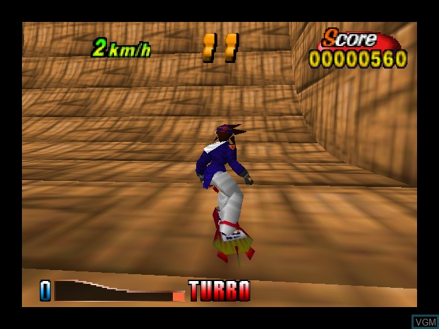 In-game screen of the game Airboarder 64 on Nintendo 64