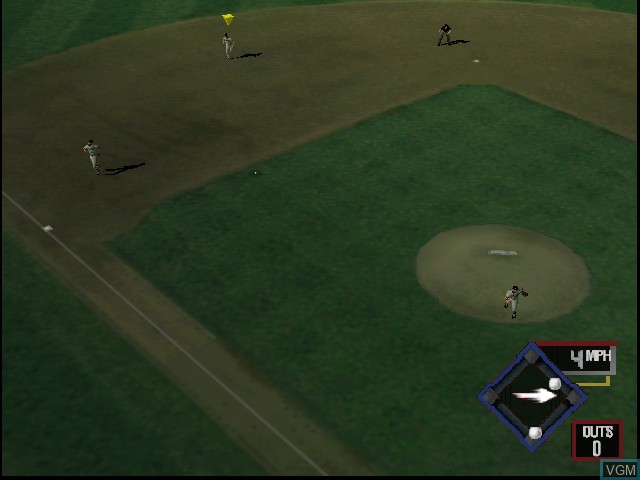 In-game screen of the game All-Star Baseball 2001 on Nintendo 64