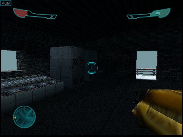 In-game screen of the game Armorines - Project S.W.A.R.M. on Nintendo 64