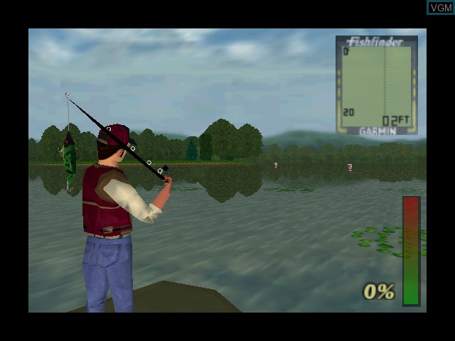 In-game screen of the game Bass Hunter 64 on Nintendo 64