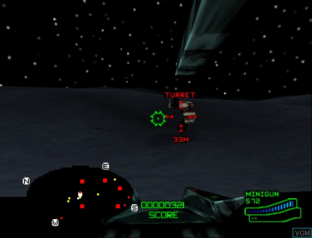 In-game screen of the game Battlezone - Rise of the Black Dogs on Nintendo 64
