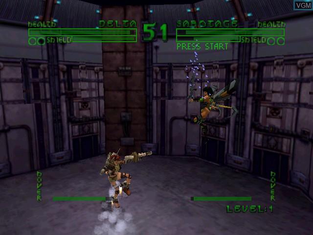 In-game screen of the game Bio F.R.E.A.K.S. on Nintendo 64