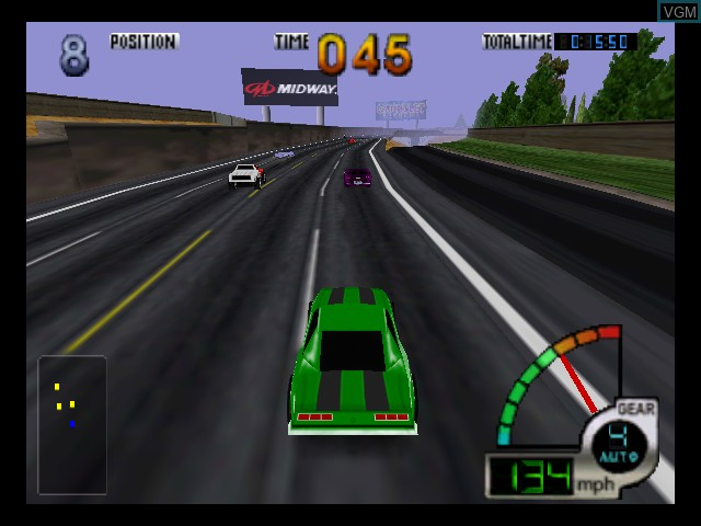In-game screen of the game California Speed on Nintendo 64