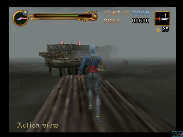 In-game screen of the game Castlevania - Legacy of Darkness on Nintendo 64