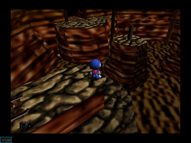 In-game screen of the game Chameleon Twist on Nintendo 64