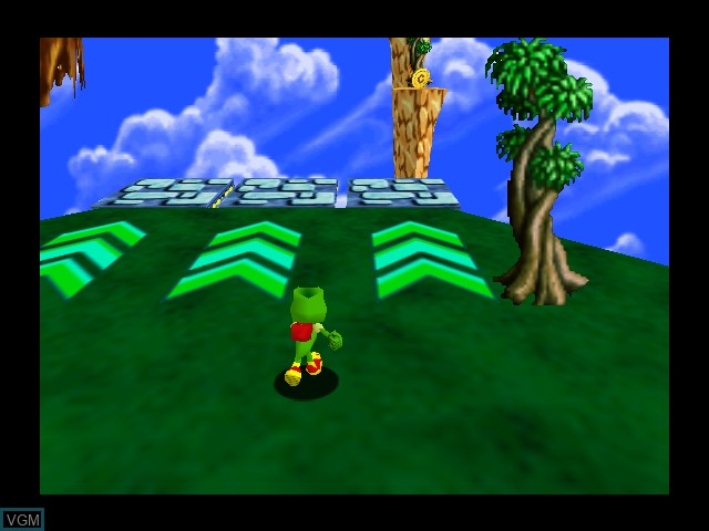 In-game screen of the game Chameleon Twist 2 on Nintendo 64