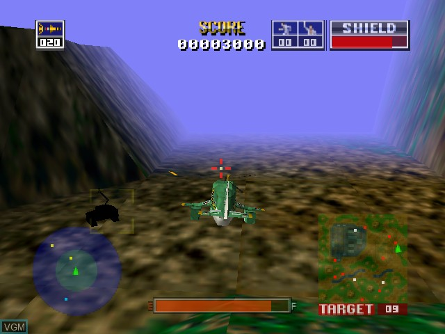 In-game screen of the game Chopper Attack on Nintendo 64