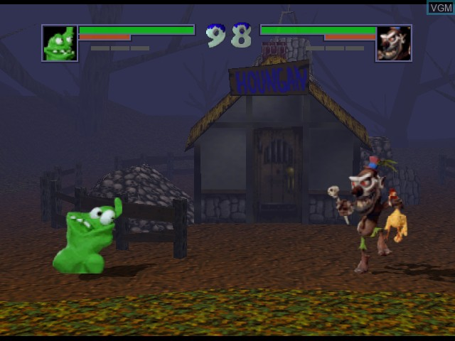 In-game screen of the game Clay Fighter 63 1-3 on Nintendo 64
