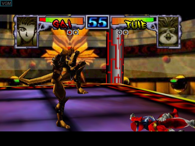 In-game screen of the game Dual Heroes on Nintendo 64