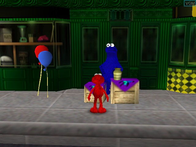 In-game screen of the game Elmo's Number Journey on Nintendo 64
