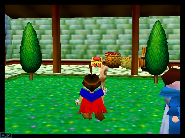 In-game screen of the game Holy Magic Century on Nintendo 64