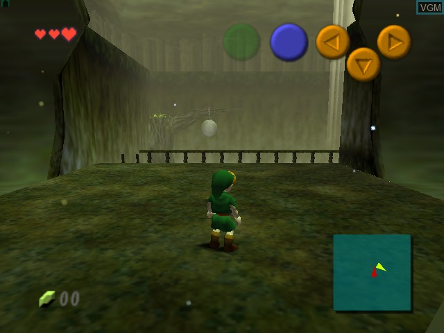In-game screen of the game Legend of Zelda, The - Ocarina of Time on Nintendo 64