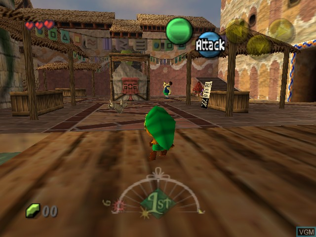 In-game screen of the game Legend of Zelda, The - Majora's Mask on Nintendo 64