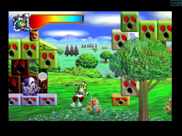 In-game screen of the game Mischief Makers on Nintendo 64