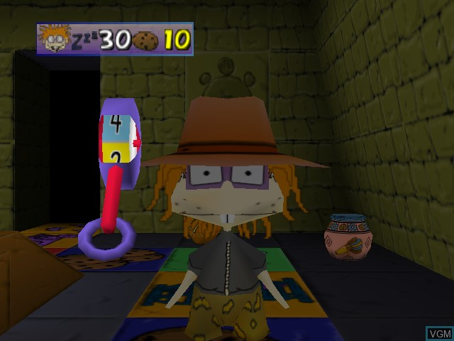 In-game screen of the game Rugrats - Scavenger Hunt on Nintendo 64