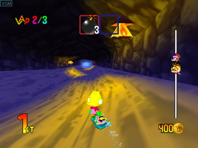In-game screen of the game Snowboard Kids 2 on Nintendo 64