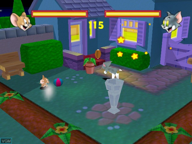 In-game screen of the game Tom and Jerry in Fists of Furry on Nintendo 64