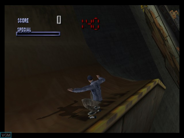 In-game screen of the game Tony Hawk's Pro Skater on Nintendo 64