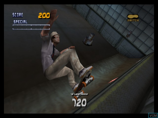 In-game screen of the game Tony Hawk's Pro Skater 2 on Nintendo 64