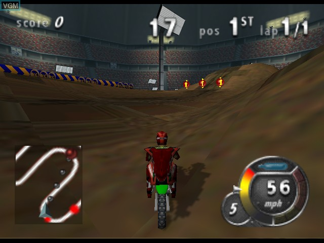 In-game screen of the game Top Gear Hyper Bike on Nintendo 64