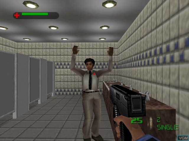 In-game screen of the game 007 - The World is Not Enough on Nintendo 64