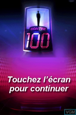 Title screen of the game 1 contre 100 on Nintendo DS