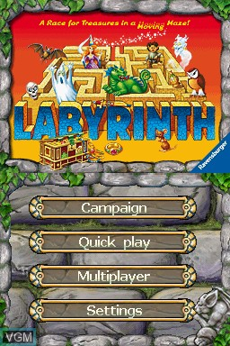 Title screen of the game thinkSMART - Labyrinth on Nintendo DS