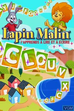 Title screen of the game Lapin Malin - J'Apprends à Lire et à Écrire on Nintendo DS